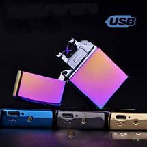 Зажигалка импульсная NB USB-215. Цвет: фиолетовый, фото 3