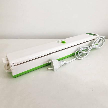 Вакууматор Freshpack Pro вакуумний пакувальник їжі, побутової. Колір: зелений, фото 2