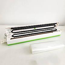 Вакууматор Freshpack Pro вакуумний пакувальник їжі, побутової. Колір: зелений, фото 3