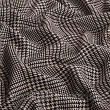 Лоскут костюмной клетки гусиная лапка, цвет бежево-коричневый