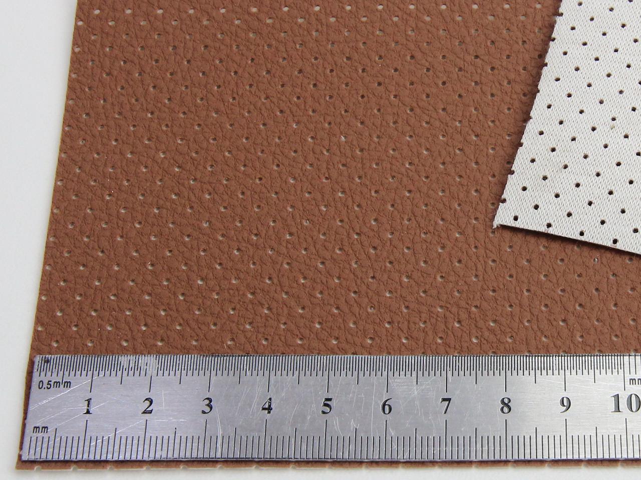 Автомобильный кожзам перфорований BAVYERA С277п рыжий (taba) на тканевой основе (ширина 1,40м) Турция