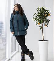 Женская куртка с карманами 50-58