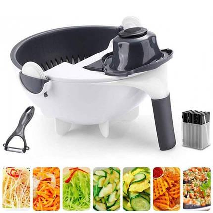 Овощерезка Wet Basket Vegetable Cutter 9в1, фото 2