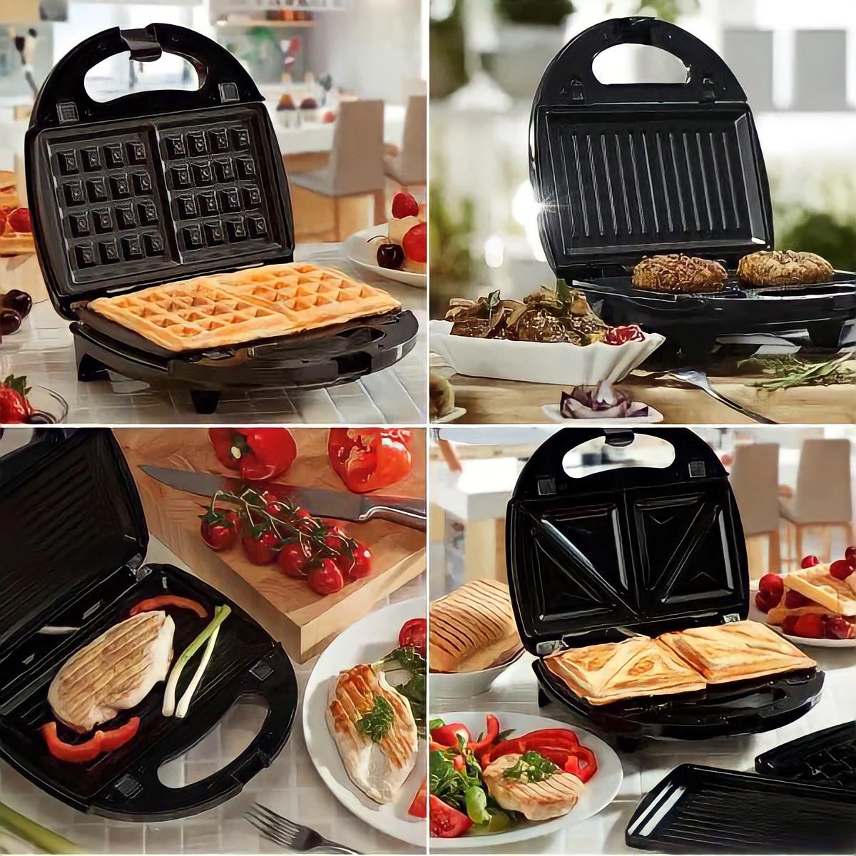 Сендвичница мультипекарь 4 в1 Grant Hoff GT-779 1200W | Сендвичница-гриль, бутербродниця, вафельниця, горішниця