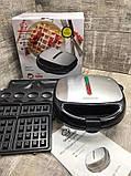 Сендвичница мультипекарь 4 в1 Grant Hoff GT-779 1200W | Сендвичница-гриль, бутербродниця, вафельниця, горішниця, фото 9