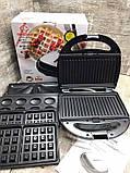 Сендвичница мультипекарь 4 в1 Grant Hoff GT-779 1200W | Сендвичница-гриль, бутербродниця, вафельниця, горішниця, фото 10