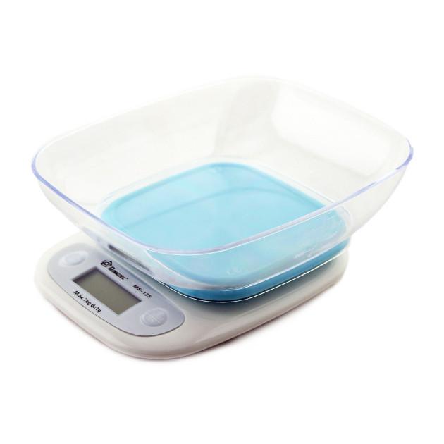 Весы кухонные DOMOTEC MS-125 Plastic. Цвет: голубой
