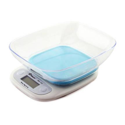 Весы кухонные DOMOTEC MS-125 Plastic. Цвет: голубой, фото 2