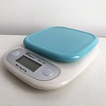 Весы кухонные DOMOTEC MS-125 Plastic. Цвет: голубой, фото 3