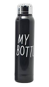 Стильный термос My Bottle 300 мл 9045 металлический (2842) Черный