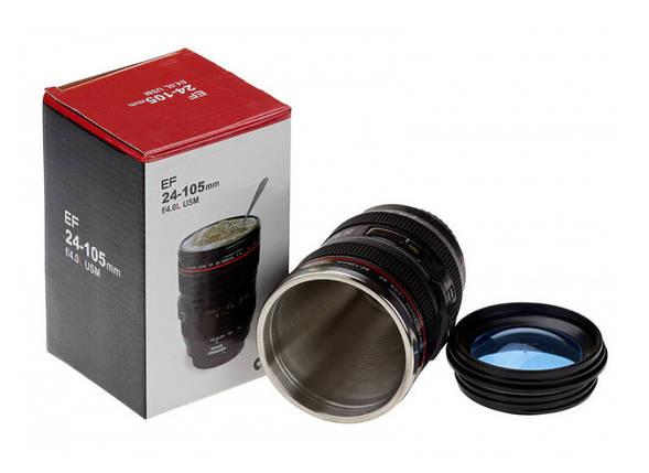 Термокружка термочашка объектив Canon 24-105 с линзой, фото 2