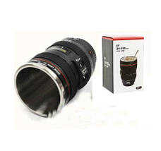Термокружка термочашка объектив Canon 24-105 с линзой, фото 3