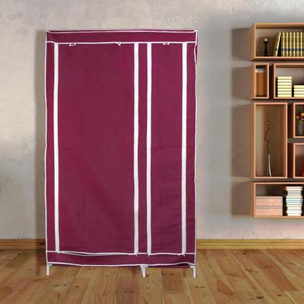 Тканевый шкаф органайзер для вещей на 2 секции складной 105х45х170см Storage Wardrobe Цвет: темно-серый, фото 2