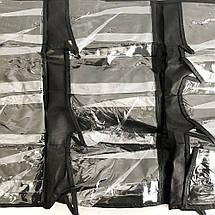 24 кишені сумка для зберігання взуття над дверима настінний органайзер для взуття, фото 3