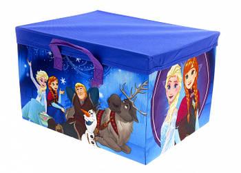 """Корзина для игрушек + игровой коврик 2 в 1 """"Frozen"""" Disney"""