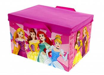 """Корзина для игрушек + игровой коврик 2 в 1 """"Принцеcсы"""" Disney"""