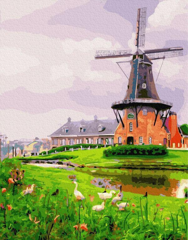 Картина по номерам 40х50 см Brushme Мельница на окраине (GX 26035)
