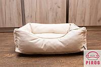 Лежак для кота или собаки  Бежевый cо входом 3 размера, фото 1