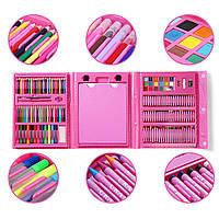 Набор для детского творчества в чемодане из 208 предметов Pink (14353)