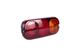 Фонарь задний универсальный 202 мм х 90 мм х 6 мм (лампа) 12В (oem № 700/50018 JCB 3CX, 4CX)