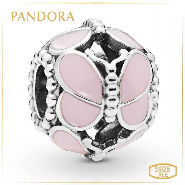 Пандора Шарм Рожеві метелики Pandora 797855EN160