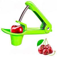 Машинка для удаления косточек из вишни (Cherry and Olive corer) вишнечистка Veleka Green (2858)