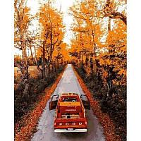 Картина по номерам рисование Mariposa MR-Q2188 Осенняя дорога 40х50см набор для росписи по цифрам, краски,, фото 1