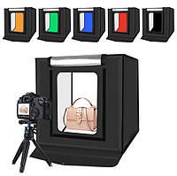 Лайткуб (photobox) для предметної зйомки Puluz 40х40х40см + 5 фонів