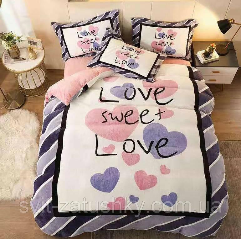 """Комплект постельного белья евро """"Love"""""""