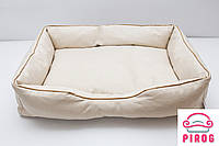 Большой Лежак для кота или собаки Бежевый cо входом, фото 1