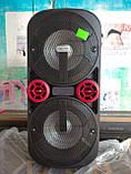 Акумуляторная колонка з мікрофоном UF-AR12QK 120W (FM/USB/Bluetooth)Супер звук!, фото 3