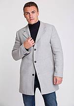 Мужское шерстяное серое пальто на весну