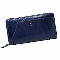 Гаманець жіночий шкіряний на блискавці синій Rovicky N410-RBA Blue