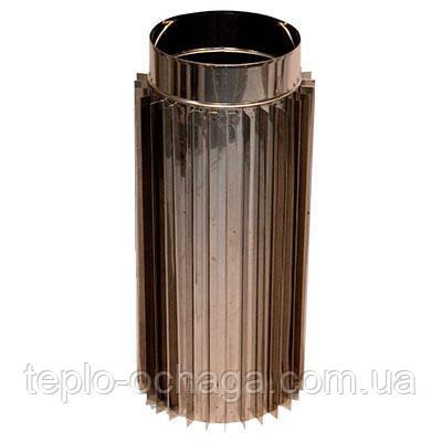 Труба-радиатор для дымохода 0,5 метра AISI 304 Версия Люкс