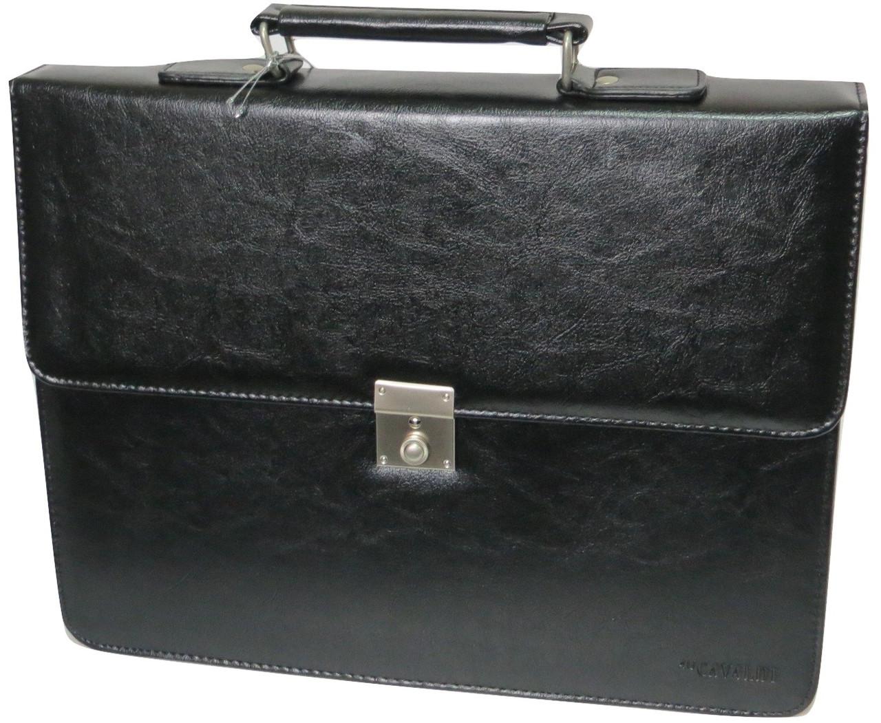 Портфель ділової зі штучної шкіри 4U Cavaldi чорний, B020139
