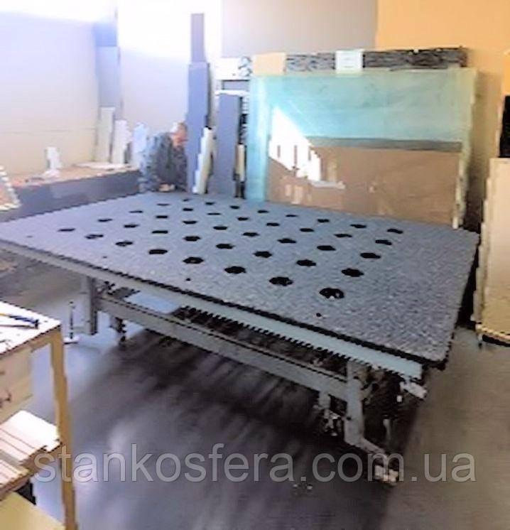 Стол для резки стекла 3660*2440мм с ручным подъемом