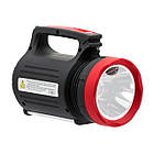 Ліхтар акумуляторний 1LED 5W+22 SMD, виносна сонячна панель, виносні 2 led лампи, кабель для зарядки, фото 4