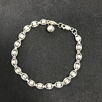 Серебряный браслет Б/У 925 пробы, длина 19,5 см, вес 7.74 г. Серебро из ломбарда