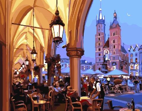 Вечернее кафе Кракова