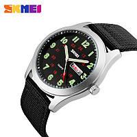 Часы мужские армейские наручные кварцевые аналоговые Skmei 9112  черные