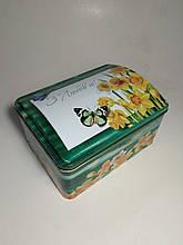 Подарочная коробка шкатулка, Сундук, Жестяная упаковка для конфет, 900 гр, 8 марта