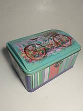 Подарочная коробка шкатулка, Сундук, Лаванда, Жестяная упаковка для конфет, 900 гр, 8 марта