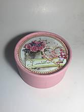 Подарочный тубус для конфет, Пионы, Подарочная упаковка для конфет, 500-600 грамм