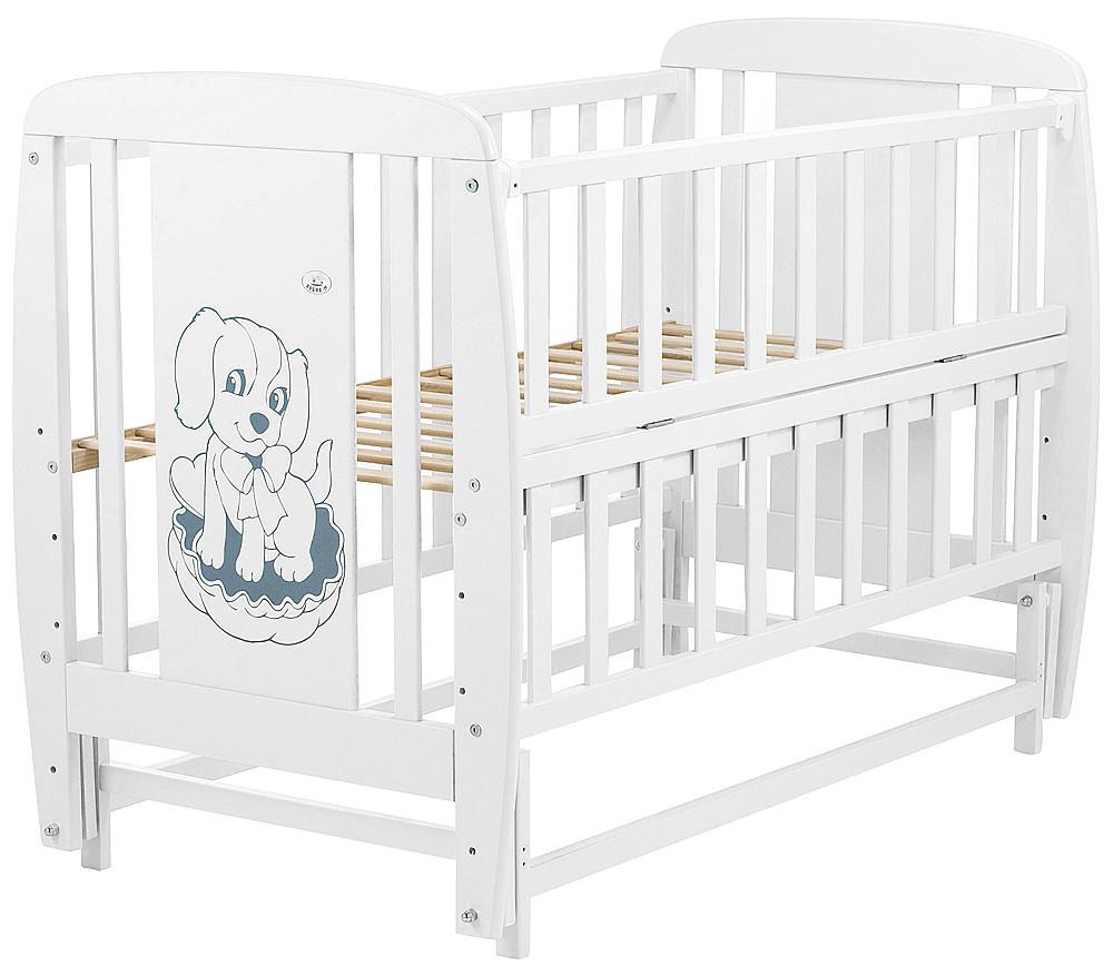 Ліжко Babyroom Собачка маятник, відкидний пліч DSMO-02 бук білий
