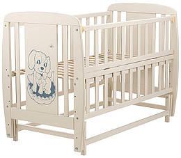 Ліжко Babyroom Собачка маятник, відкидний пліч DSMO-02 бук слонова кістка