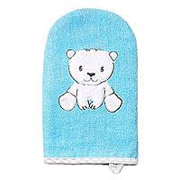 Рукавица моющая бамбуковая голубая BabyOno (5901435408582)