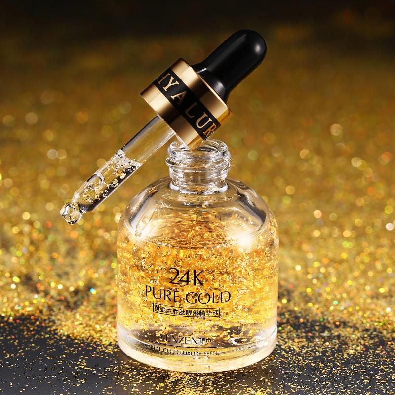 Сыворотка вокруг глаз с золотом и гексапептидом-11 Venzen 24k Pure Gold Golden Argireline Eye Essence, 30мл