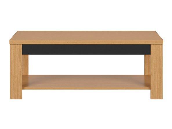 Журнальный столик LAW/130 AROSA BRW дуб балтийский/дуб натуральный/черный глянец