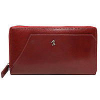 Гаманець жіночий шкіряний на блискавці червоний Rovicky N410-RBA Red