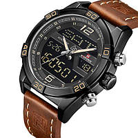 Часы наручные мужские оригинальные классические красивые  Naviforce Legion Brown NF9128